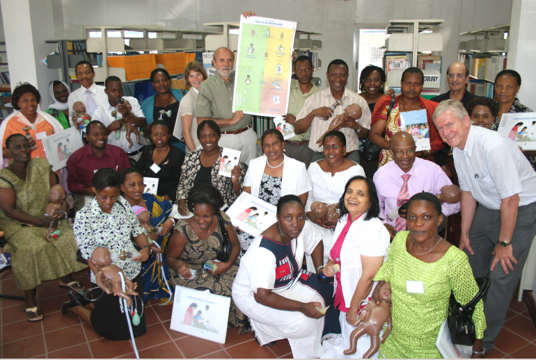 Initial training of Tanzanian Doctors and Midwives in 2009 in Dar es Salaam, Tanzania