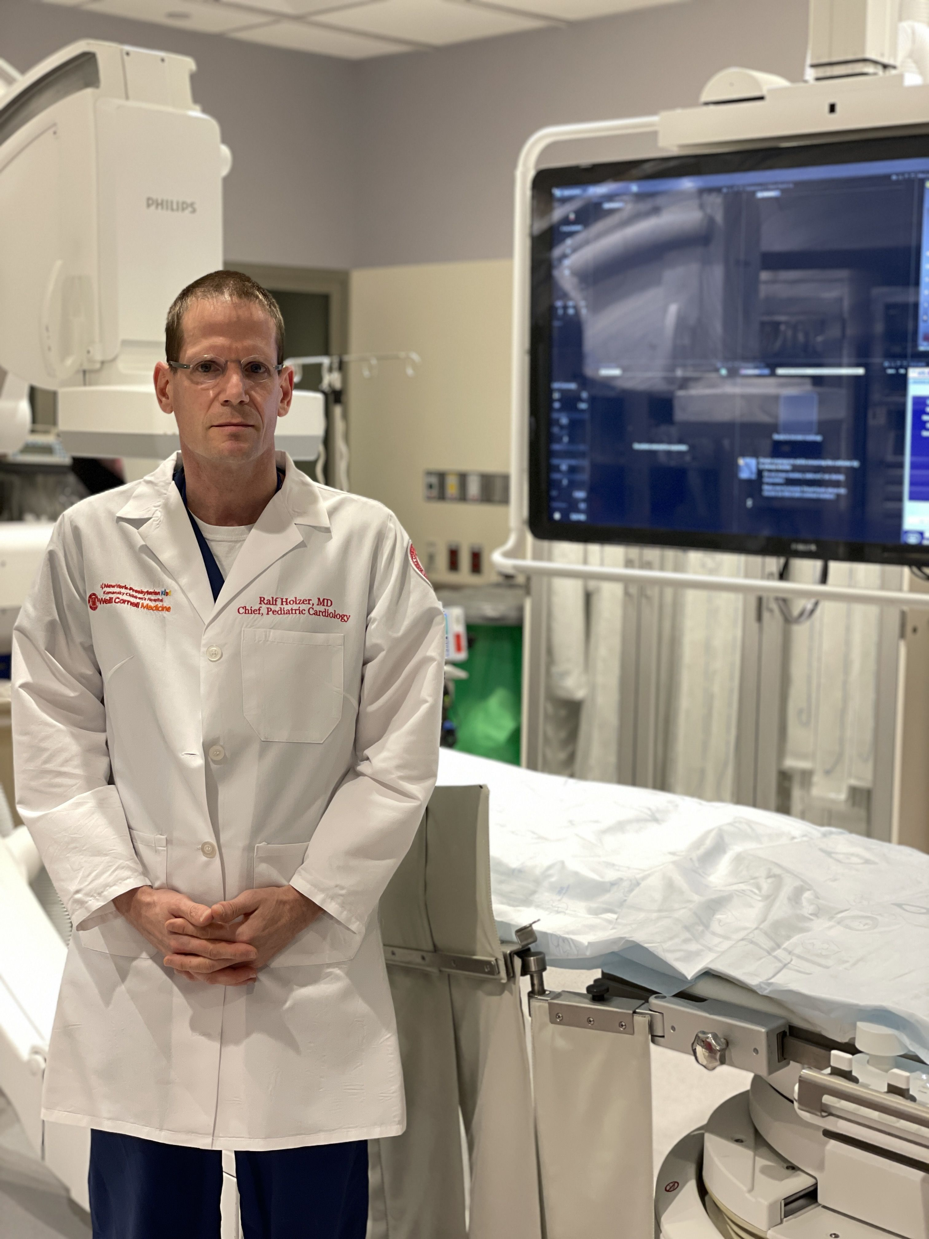 Dr. Ralf Holzer in cath lab