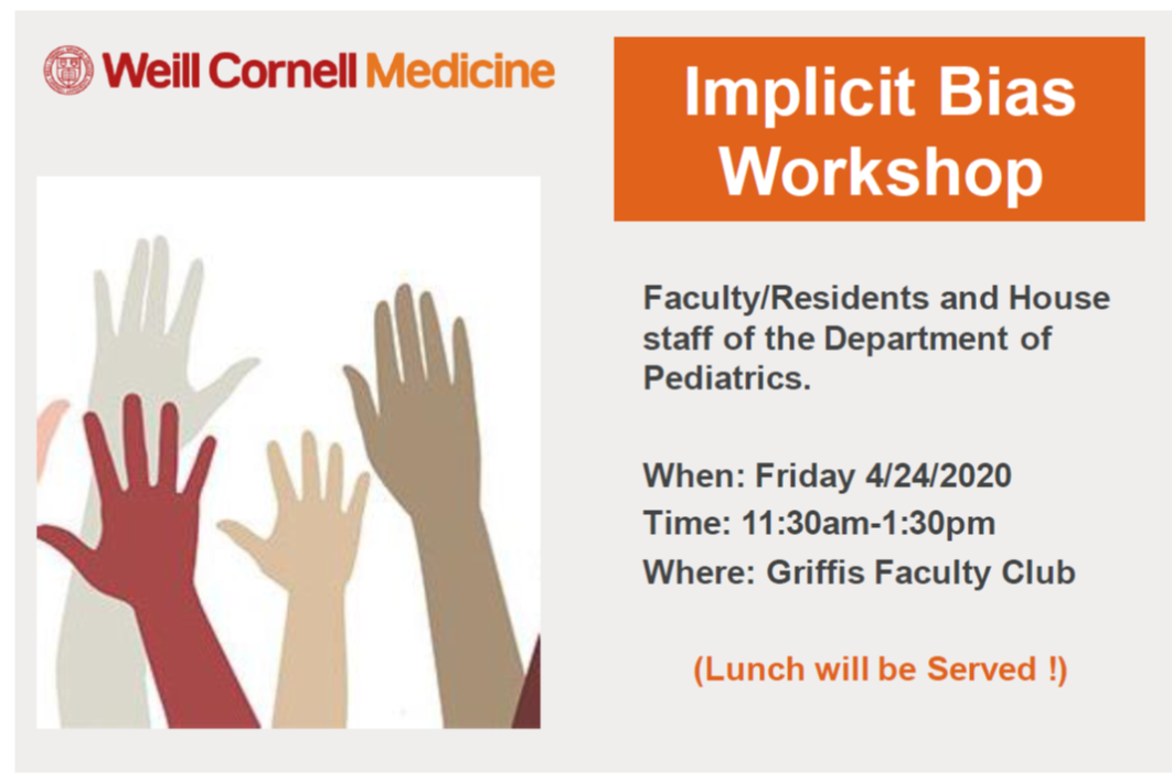 Implicit Bias workshop poster