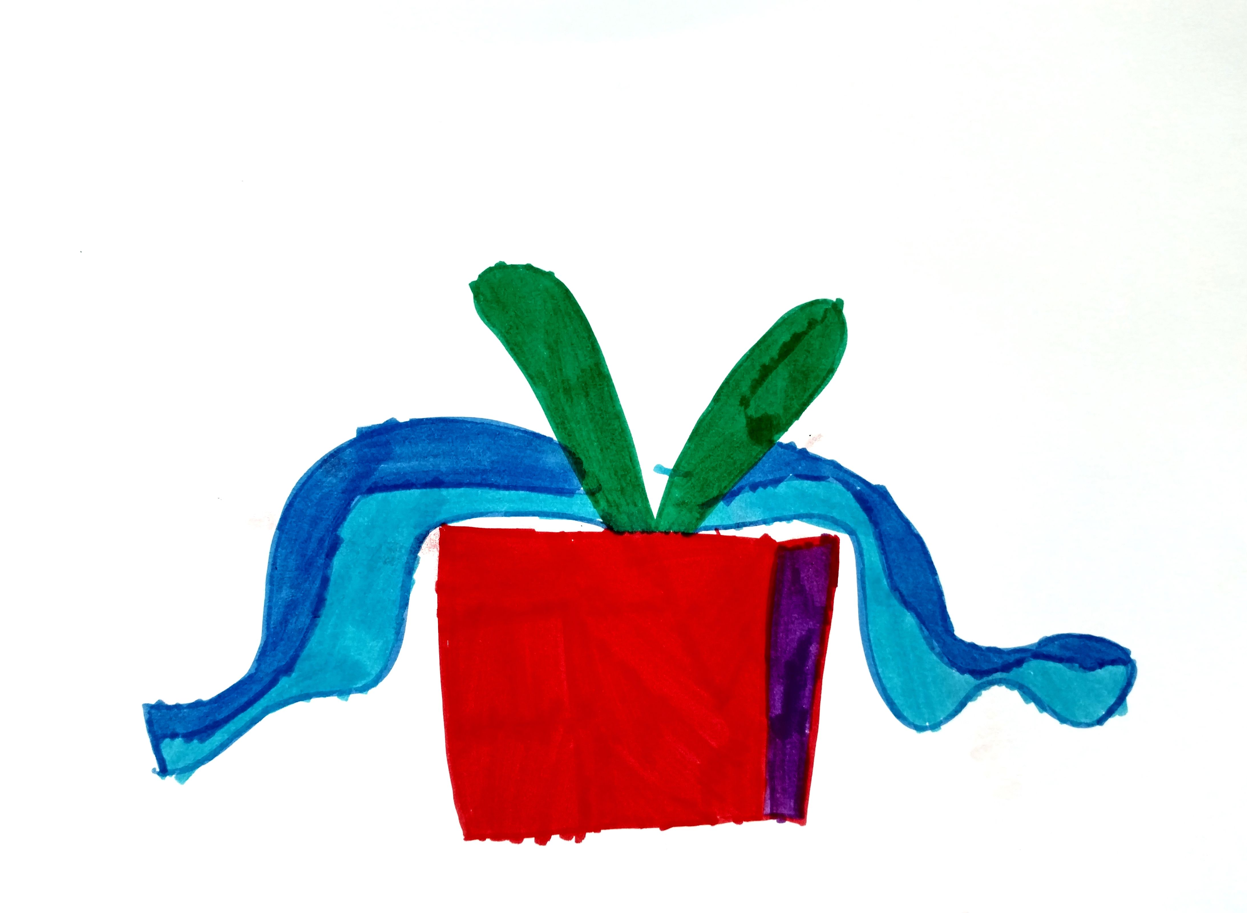Holiday card art by pediatric patient.