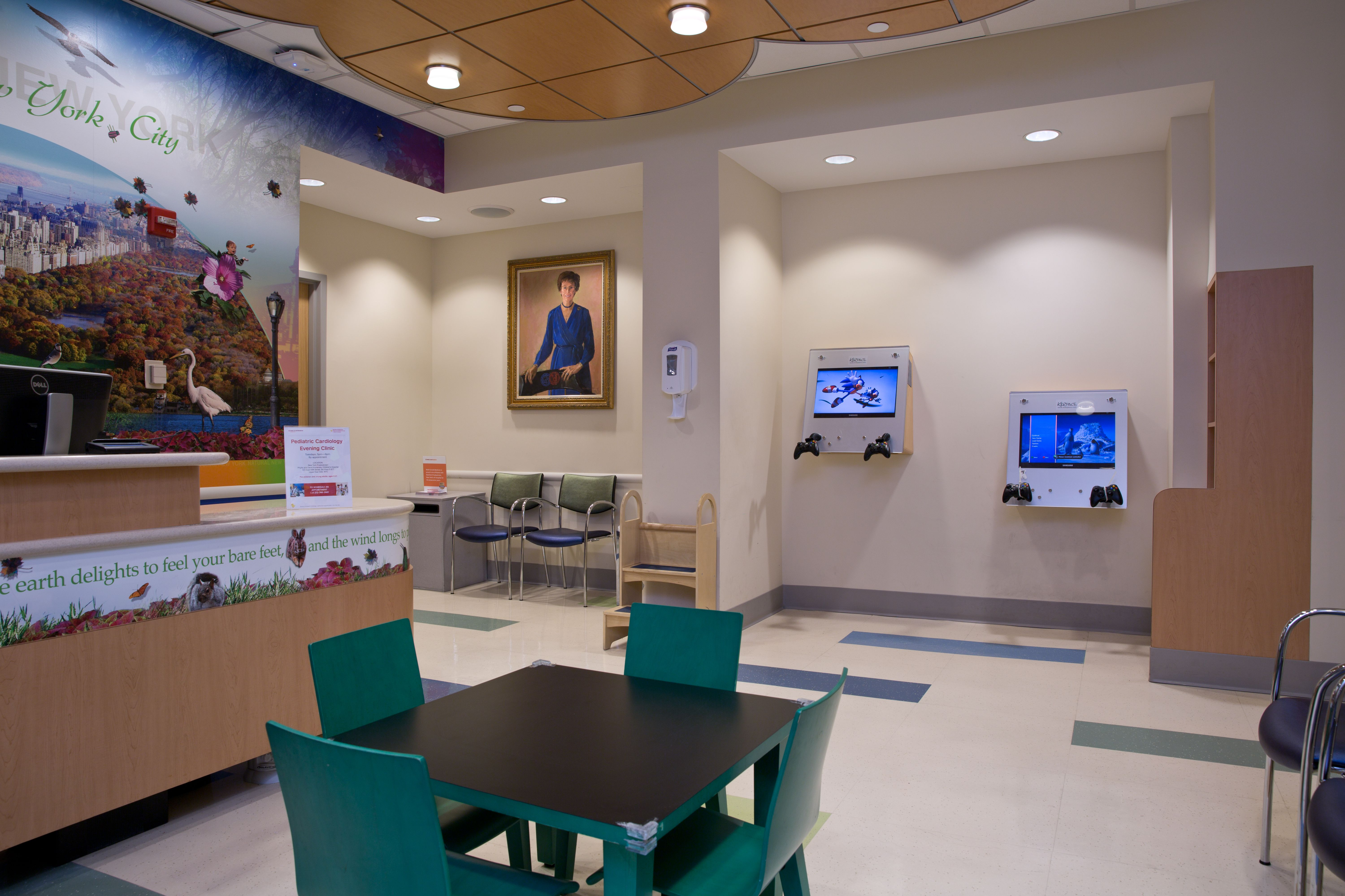 Photo of pediatric cardiology waiting room
